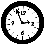 simple clock at three oclock