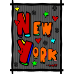 Funky New York, Art In Frame--DIGITAL DIRECT PRINT