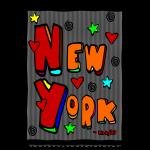 newyorkchunkybigmulticolorartworkinframe