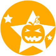 Halloween circle pumpkin and stars cute!