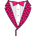 Pink Star Tuxedo PNG