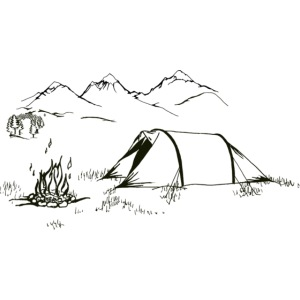 fire_and_tent_drawing_mountains_and_fore