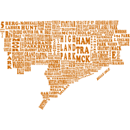 Design ~ Orange Detroit Map