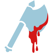 viking axe with dripping blood