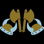 viking axes and helmets