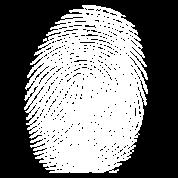 Fingerprint in white