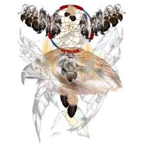 Dream Catcher and Feathers-Hawk Face Shirt