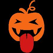 halloween crazy tongue lickin pumpkin