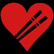 love chopstick heart