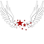 Starr's Wings logo (whiteletters)