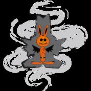 Halloween pumkin calabash squash Horror halloween bunny bunnies rabbit hare cony leveret bimbo skele