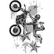 Star Splattered Dirt Biker