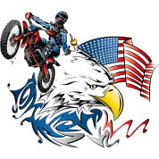Patriotic Dirtbiker