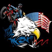 Patriotic Dirtbiker