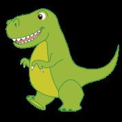 Cute TRex Dinosaur Mens Long TShirt TShirt  Page Three Designs