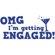 omg im getting engaged with coaktail glass marriage