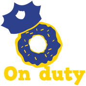 on duty doughnut police hat