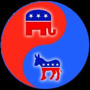 Republican Democrat Yin Yang
