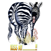 Kiss My....!! zebra