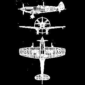 Spitfire airplane blueprint