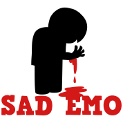 SAD EMO with blood