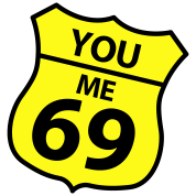 you me 69 Humorous sign