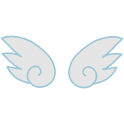 kawaii cute little wings