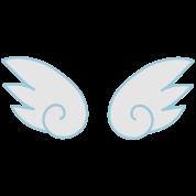 kawaii cute little wings