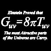 Einstein Field Equation (Humor, white for dark tee