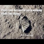 Pilots Take No Joy In Walking