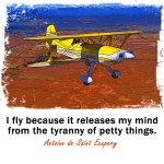 I fly because... Biplane