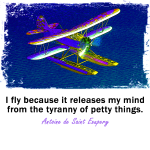 I fly because... Seaplane