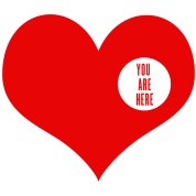 You are here - love and valentine's day gift