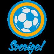 Sverige Sweden Football Soccer Circles (3c)