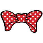 Bow Red With White Dotts