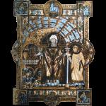 Uta Codex: St. Erhard w/ a Deacon. 1015-1020 CE.