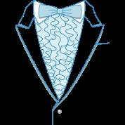 Fake Deluxe Tuxedo Blue