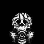 SkullMask GasMask Black and White