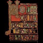 Lindisfarne Gospels page