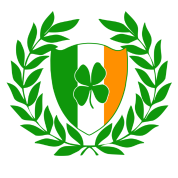 St. Patrick's Day Shield with Clover and Wreath