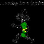 Funny Running T-shirt - Rastaman