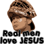 Real men love Jesus (Flores).