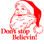 Santa Christmas Believe