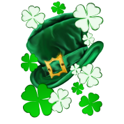 Irish Hat and Shamrocks