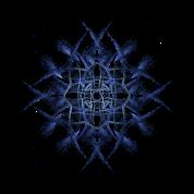 """Barbed Blue"" Fractal Geometry Art"