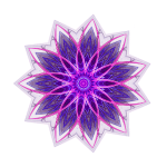 """Fractal Flower Purple"" Geometric Art"