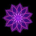 """""""Fractal Flower Purple"""" Geometric Art"""