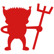 red devil cute with Pitchfork