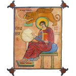 St. Mark, Lindisfarne Gospels