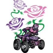 Flower Powered Quad Rider